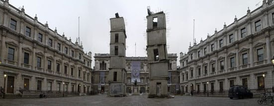 Anselm Kiefer 'Aperiatur Terra' —  Anselm Kiefer  Jericho  Installation Royal Academy of Arts, London,